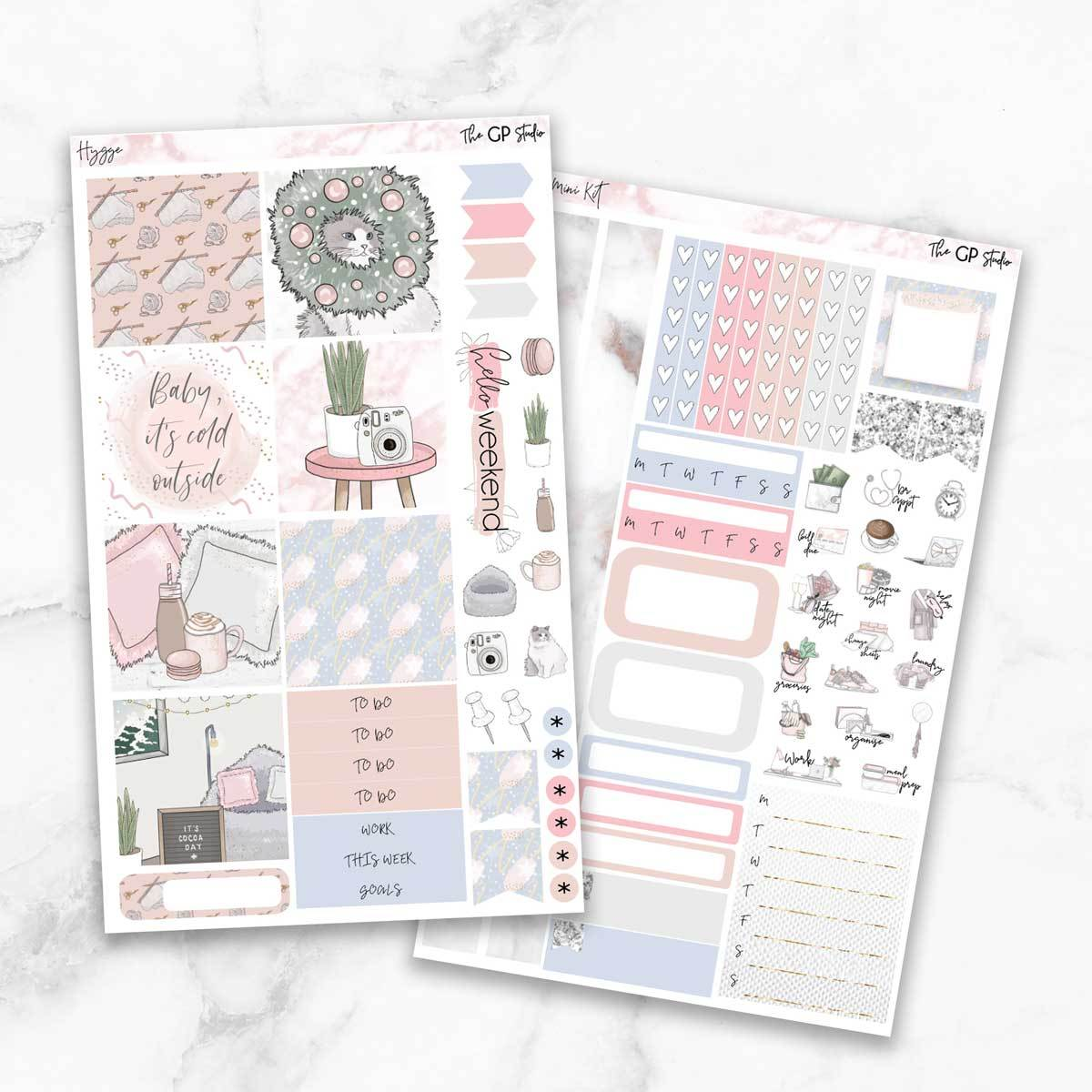 HYGGE Mini Size Planner Sticker Kit-The GP Studio