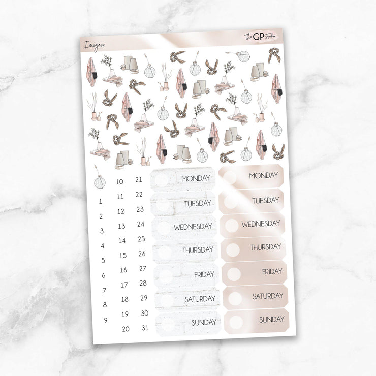 IMOGEN Deco & Date Cover Stickers-The GP Studio