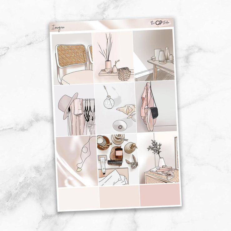 IMOGEN Full Boxes Planner Stickers-The GP Studio