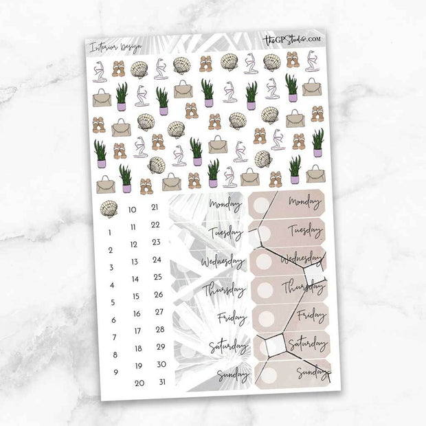 INTERIOR DESIGN Deco & Date Cover Stickers-The GP Studio