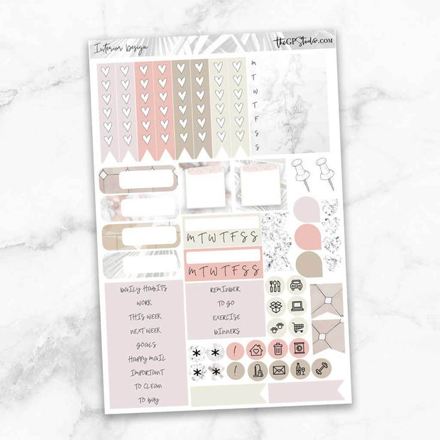 INTERIOR DESIGN Functional Planner Sticker Kit-The GP Studio