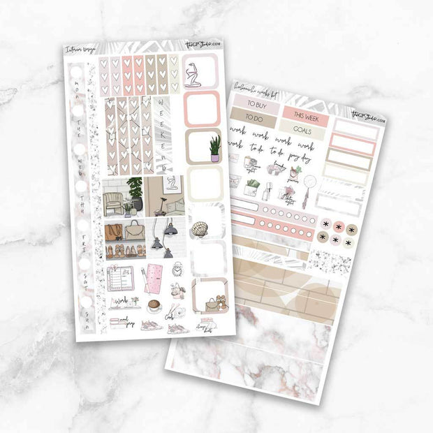 INTERIOR DESIGN Hobonichi Weekly Size Planner Sticker Kit-The GP Studio