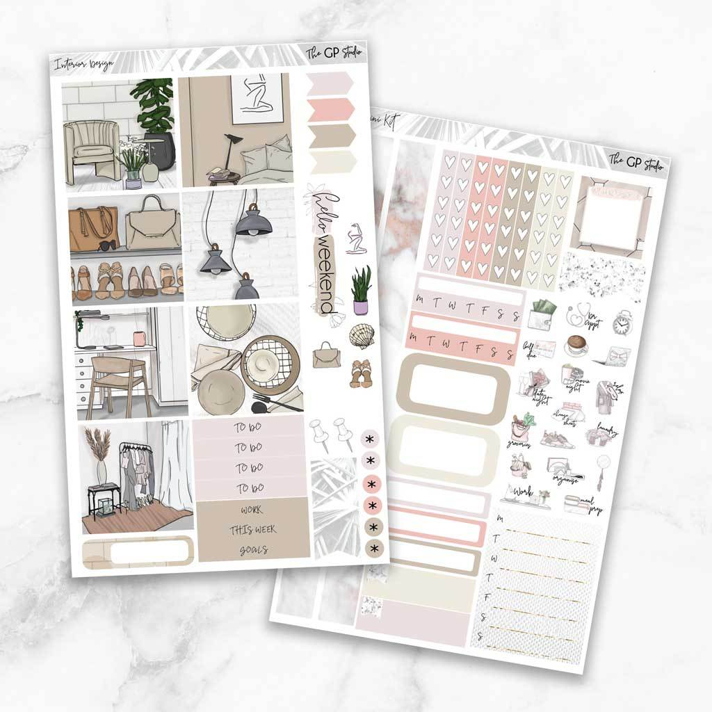 INTERIOR DESIGN Mini Size Planner Sticker Kit-The GP Studio