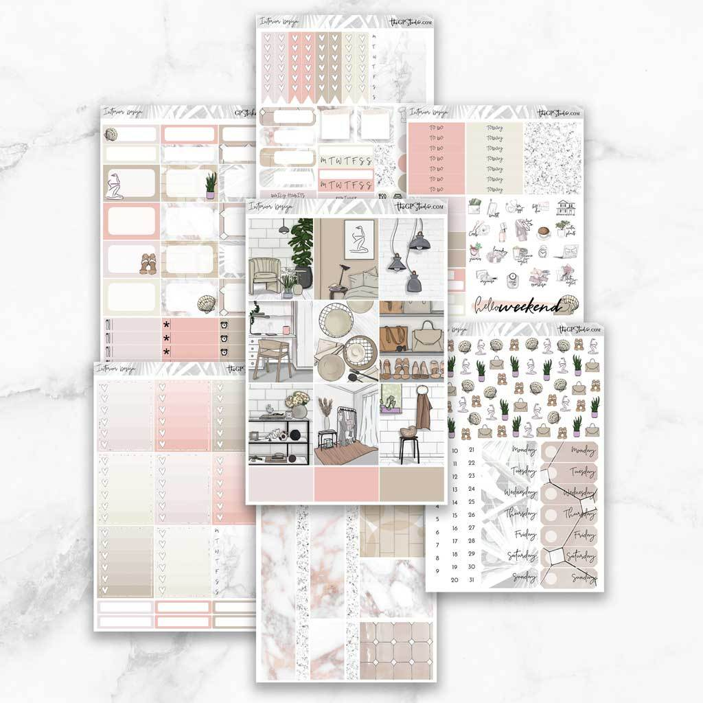 INTERIOR DESIGN Planner Sticker Kit-The GP Studio