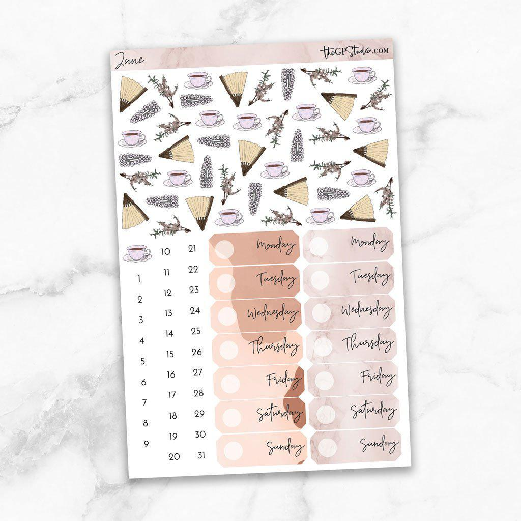 JANE Deco & Date Cover Stickers-The GP Studio