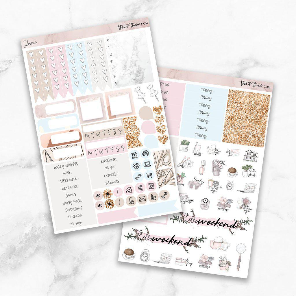 JANE Functional Planner Sticker Kit-The GP Studio