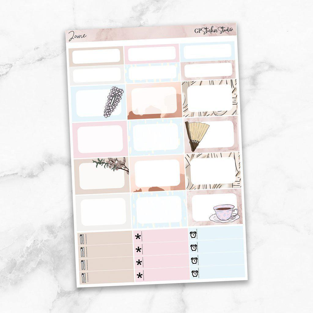 JANE Half Boxes Planner Stickers-The GP Studio