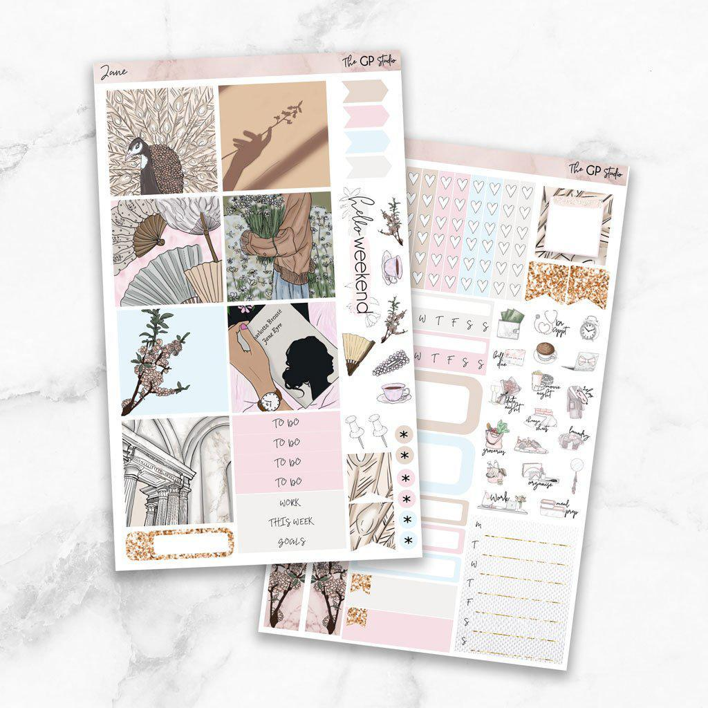 JANE Mini Size Planner Sticker Kit-The GP Studio