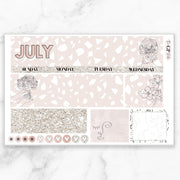 JULY 2020 Monthly View Sticker Kit Erin Condren Size-The GP Studio