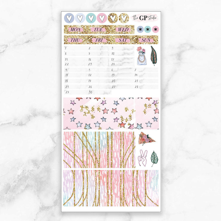 JUNE 2020 MONTHLY Sticker Kit Hobonichi Week's Size-The GP Studio