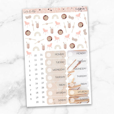 LA VIE EN ROSE Deco & Date Cover Stickers-The GP Studio
