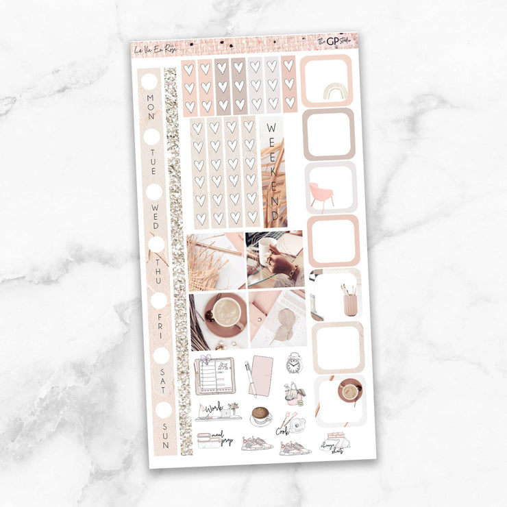 LA VIE EN ROSE Hobonichi Weekly Size Planner Sticker Kit-The GP Studio