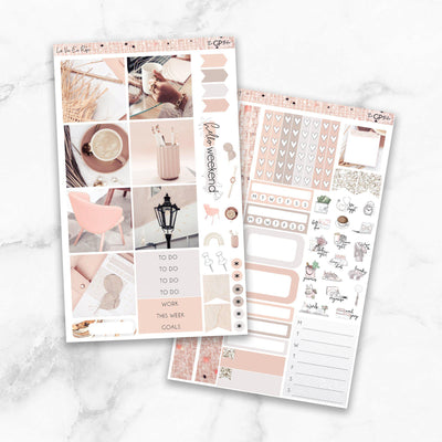 LA VIE EN ROSE Mini Size Planner Sticker Kit-The GP Studio