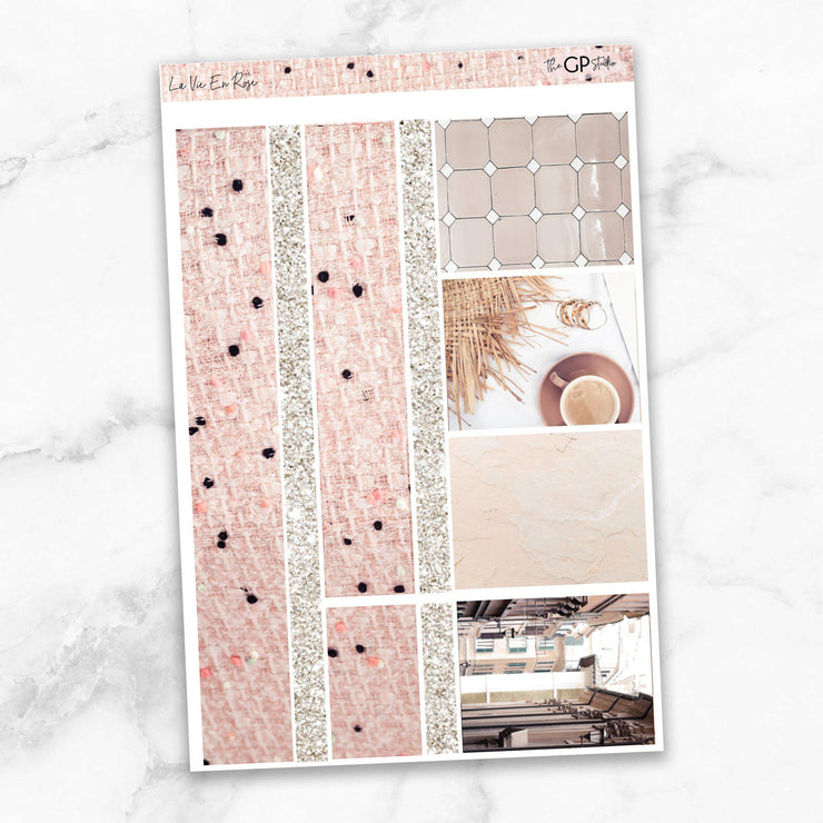 LA VIE EN ROSE Washi Sheet Stickers-The GP Studio