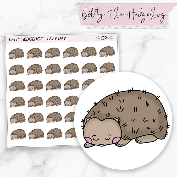 LAZY DAY BETTY Planner Stickers-The GP Studio