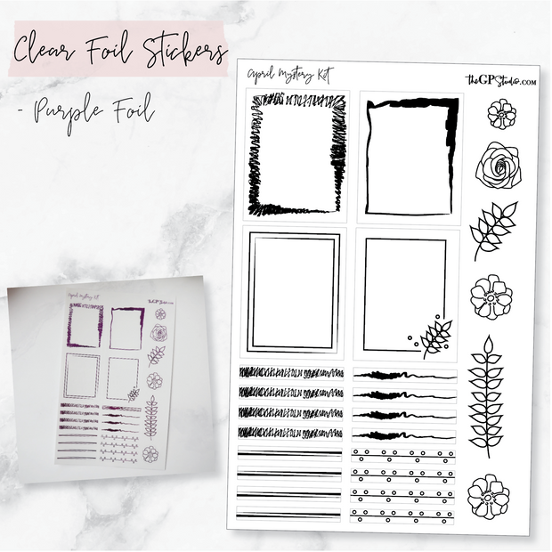 LEFTOVER APRIL 2019 MYSTERY KIT FOIL SHEET-The GP Studio