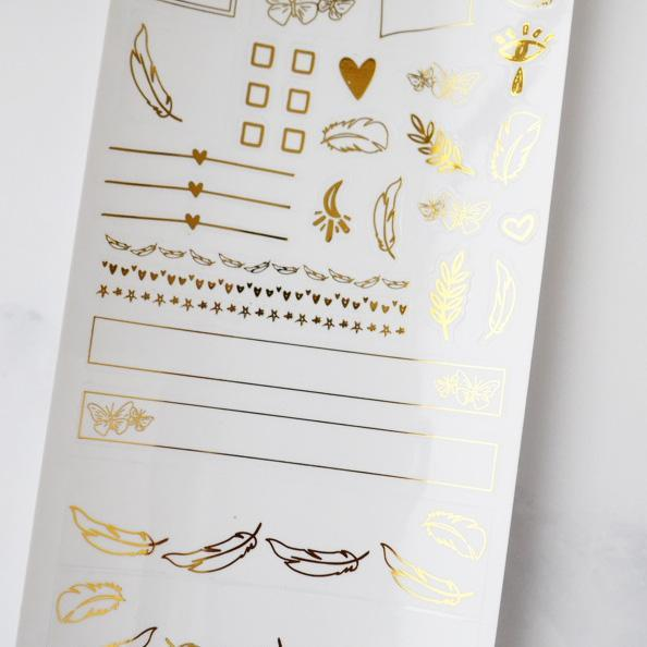 LEFTOVER AUGUST 2019 HOBONICHI WEEKS MYSTERY KIT FOIL SHEET-The GP Studio