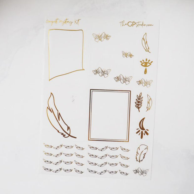 LEFTOVER AUGUST 2019 MYSTERY KIT FOIL SHEET - slightly imperfect-The GP Studio