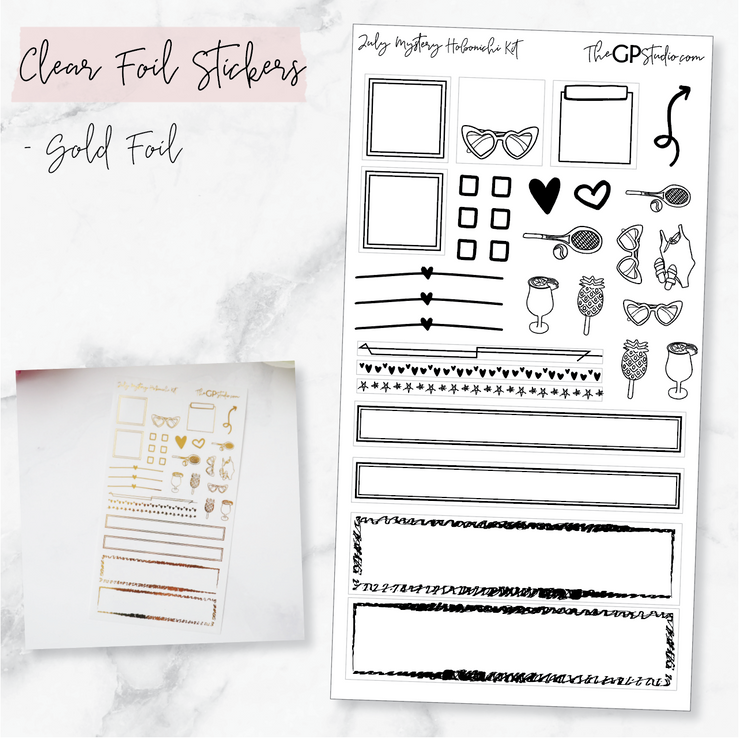 LEFTOVER JULY 2019 HOBONICHI WEEKS MYSTERY KIT FOIL SHEET-The GP Studio