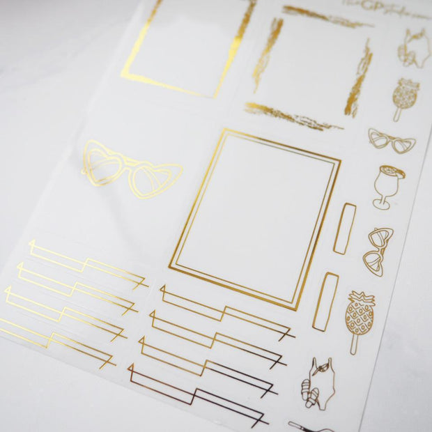 LEFTOVER JULY 2019 MYSTERY KIT FOIL SHEET-The GP Studio