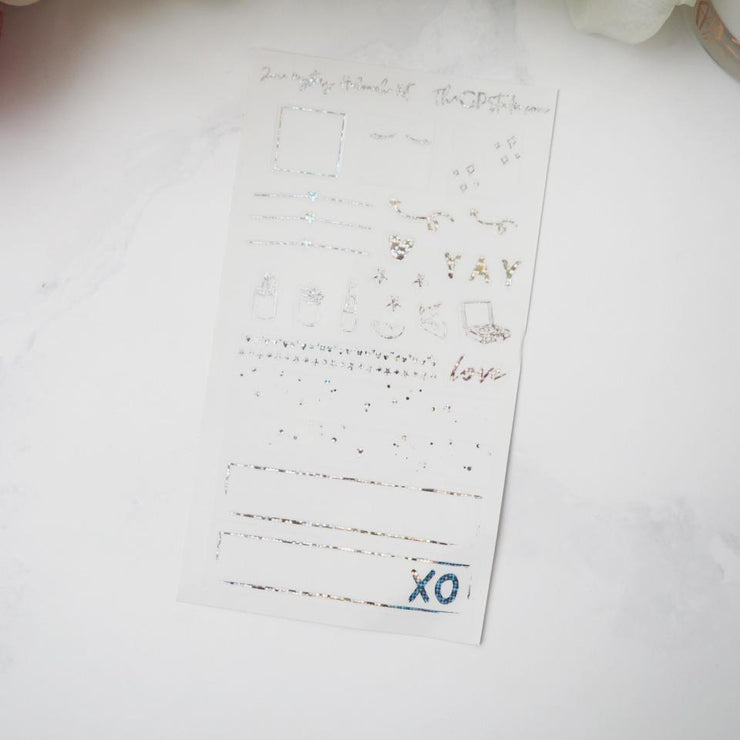 LEFTOVER JUNE 2019 HOBONICHI WEEKS MYSTERY KIT FOIL SHEET-The GP Studio