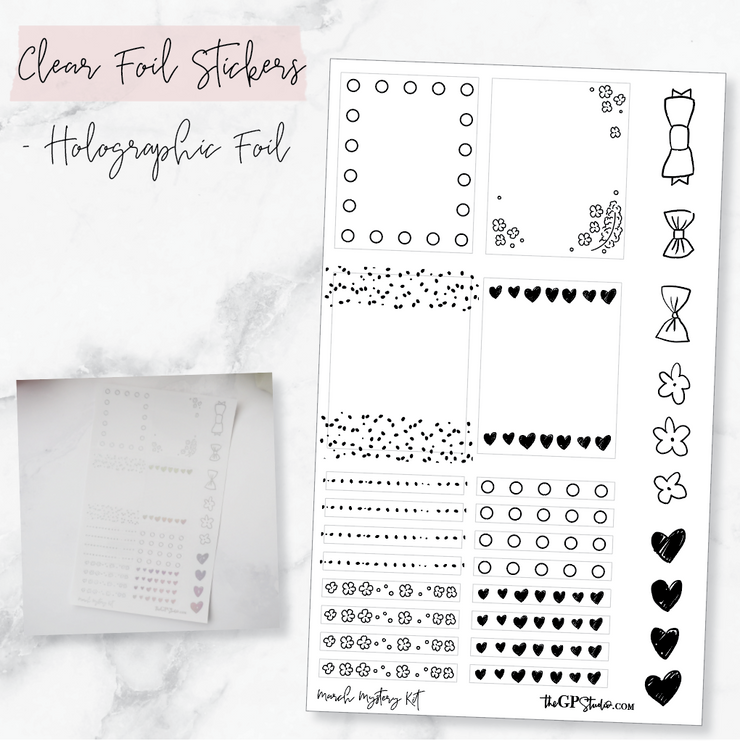 LEFTOVER MARCH 2019 MYSTERY KIT FOIL SHEET-The GP Studio