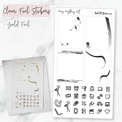 LEFTOVER MAY 2019 MYSTERY KIT FOIL SHEET-The GP Studio