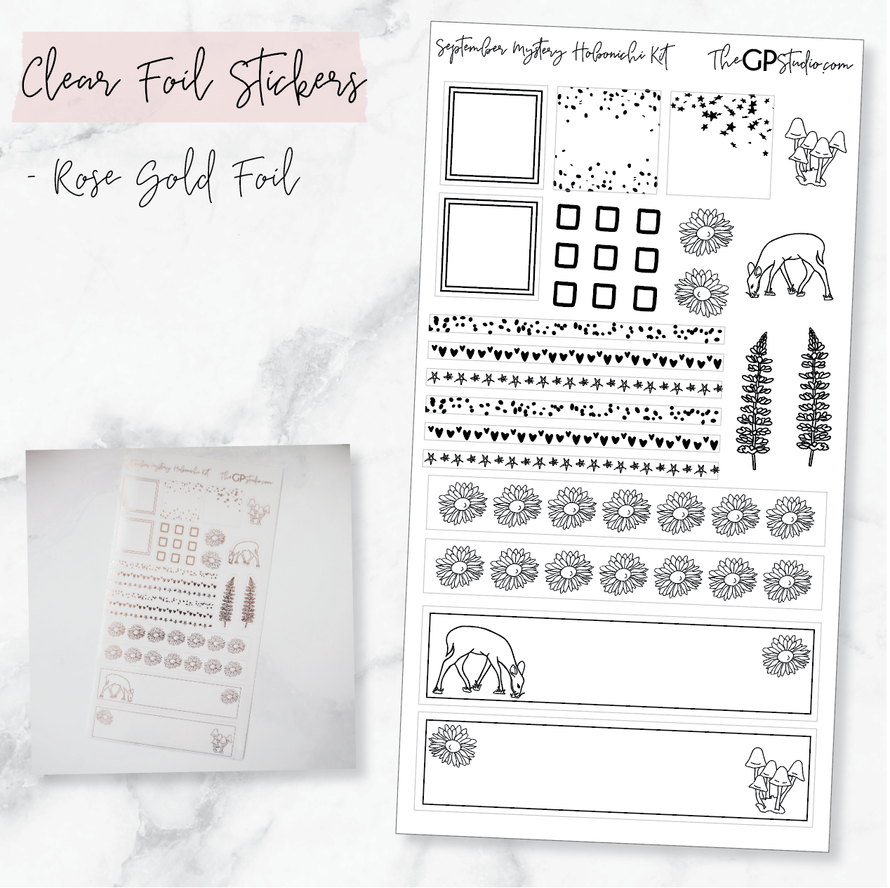 LEFTOVER SEPTEMBER 2019 HOBONICHI WEEKS MYSTERY KIT FOIL SHEET-The GP Studio