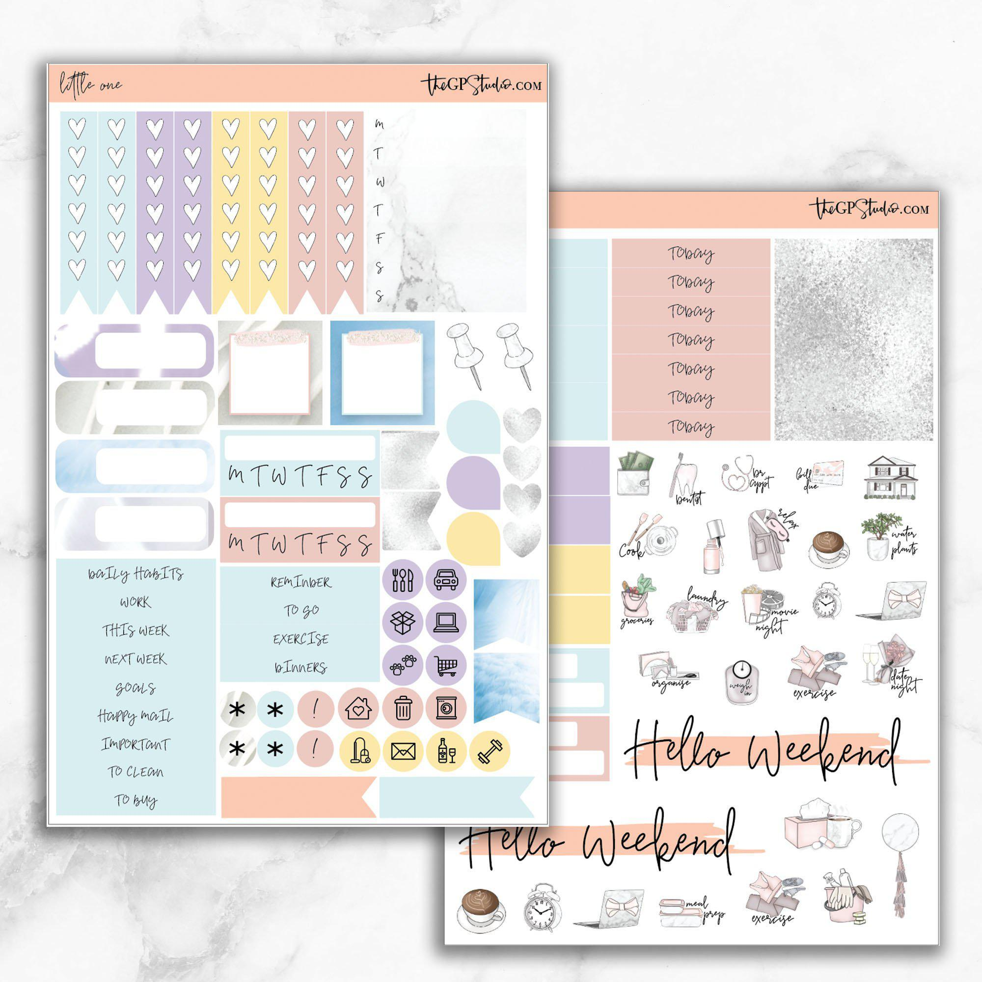 LITTLE ONE Functional Planner Sticker Kit-The GP Studio