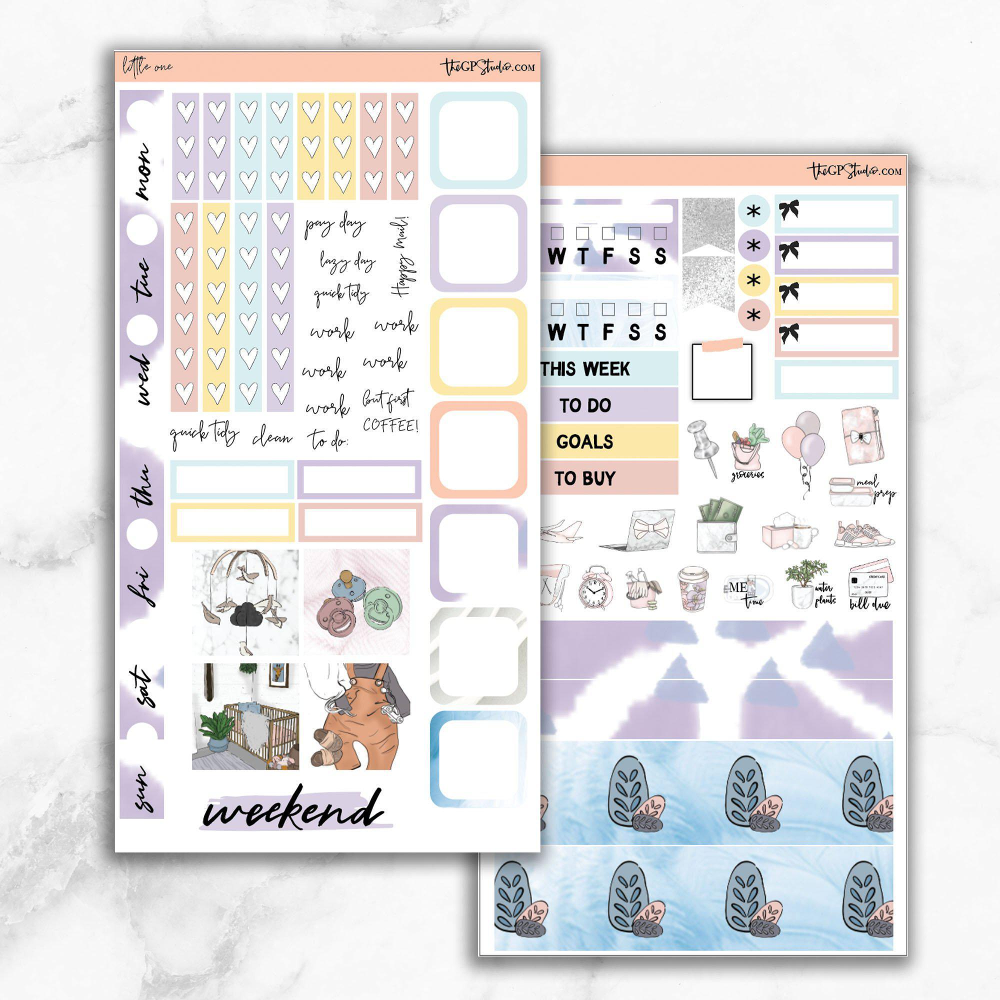 LITTLE ONE Hobonichi Weekly Size Planner Sticker Kit-The GP Studio