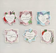 LOVEBOX SILVER FOIL QUOTE CARDS - pack of 6-The GP Studio
