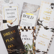 LUXE LIFE GOLD FOIL QUOTE CARDS - pack of 6-The GP Studio