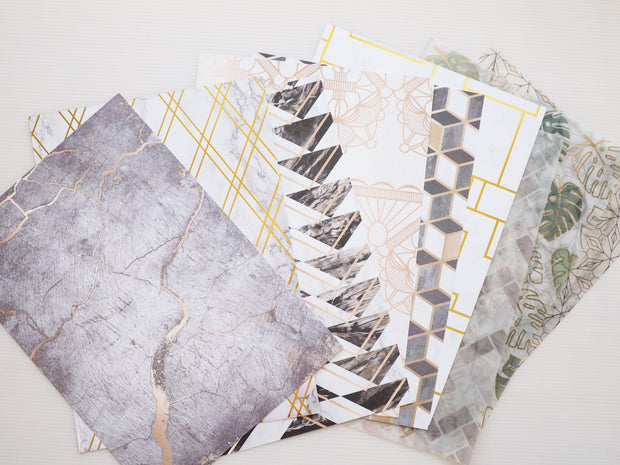 LUXE LIFE SET OF PAPERS, ACETATE AND VELLUM-The GP Studio
