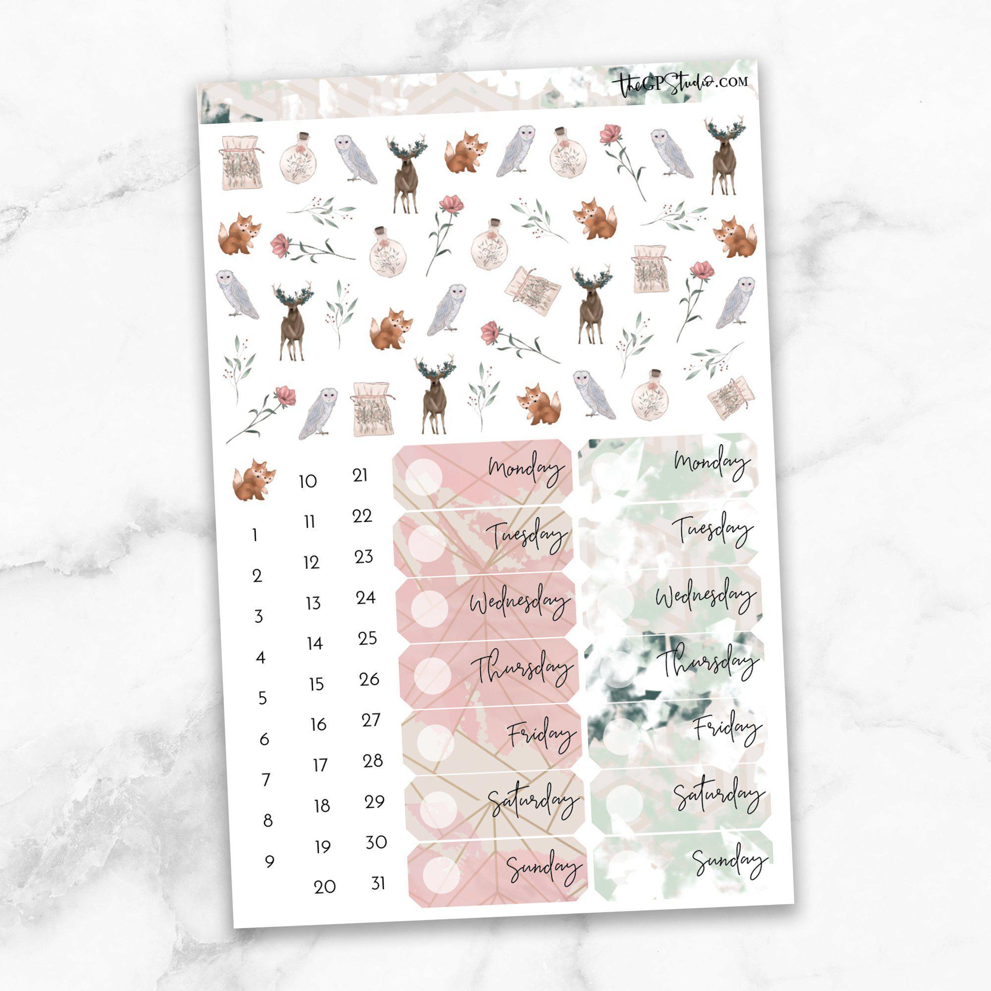MAGIC POTION Deco & Date Cover Stickers-The GP Studio