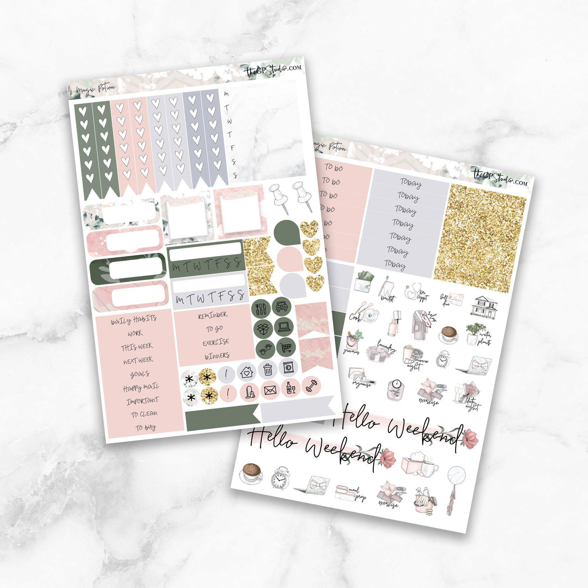 MAGIC POTION Functional Planner Sticker Kit-The GP Studio