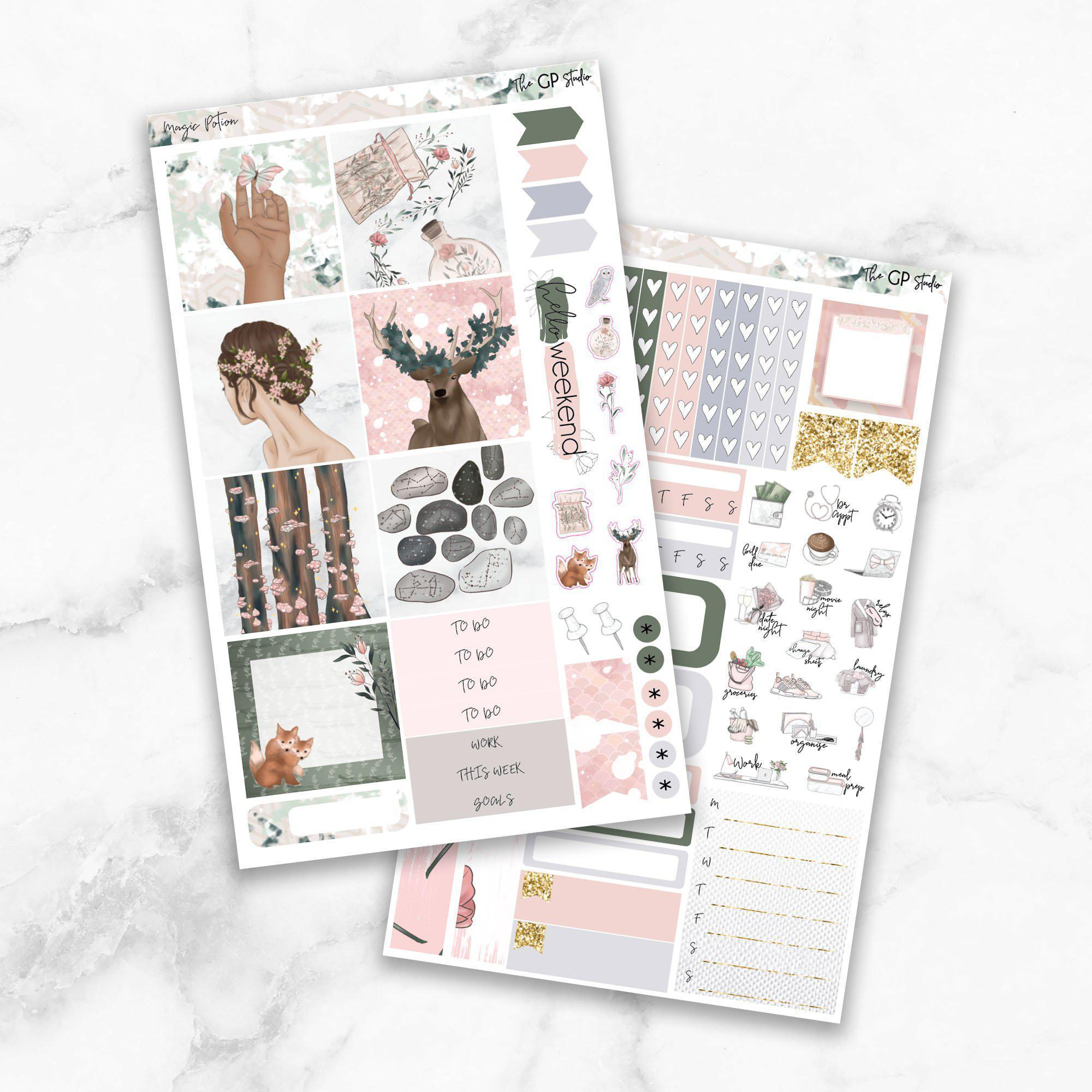 MAGIC POTION Mini Size Planner Sticker Kit-The GP Studio