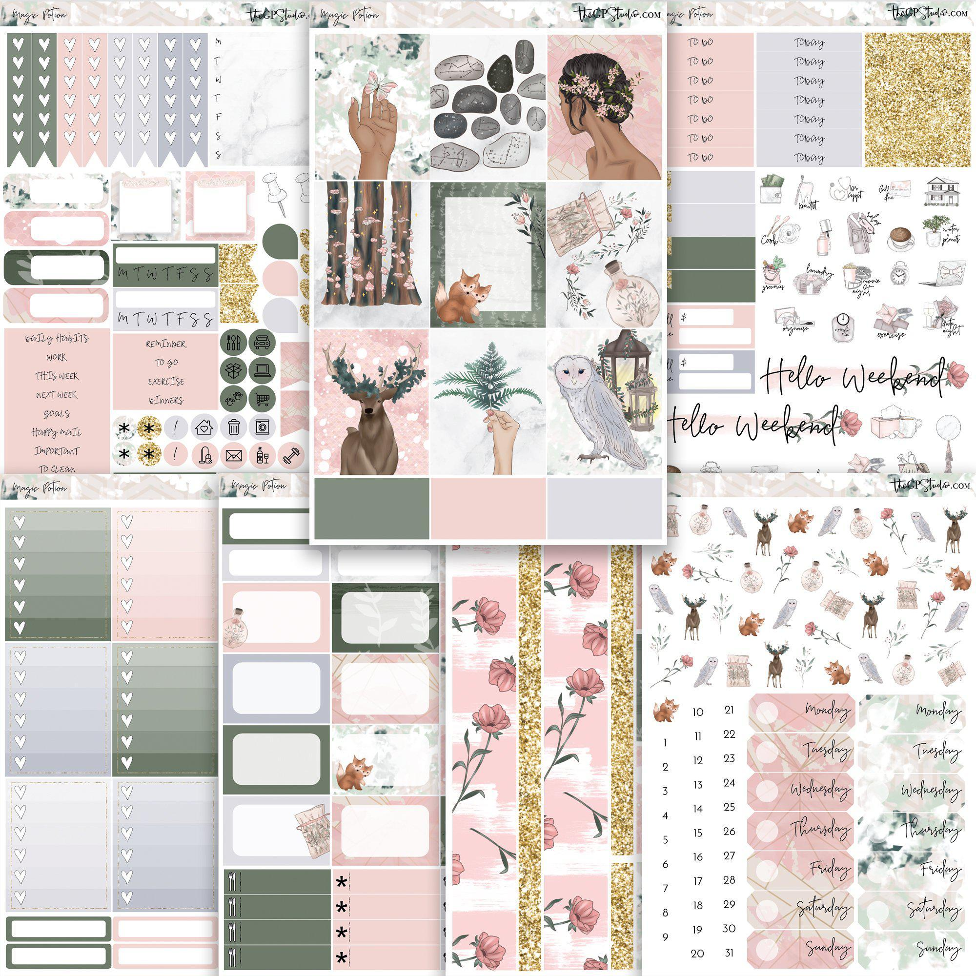 MAGIC POTION Planner Sticker Kit-The GP Studio
