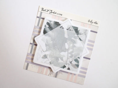 MARBLE LEAVES STICKY NOTES-The GP Studio