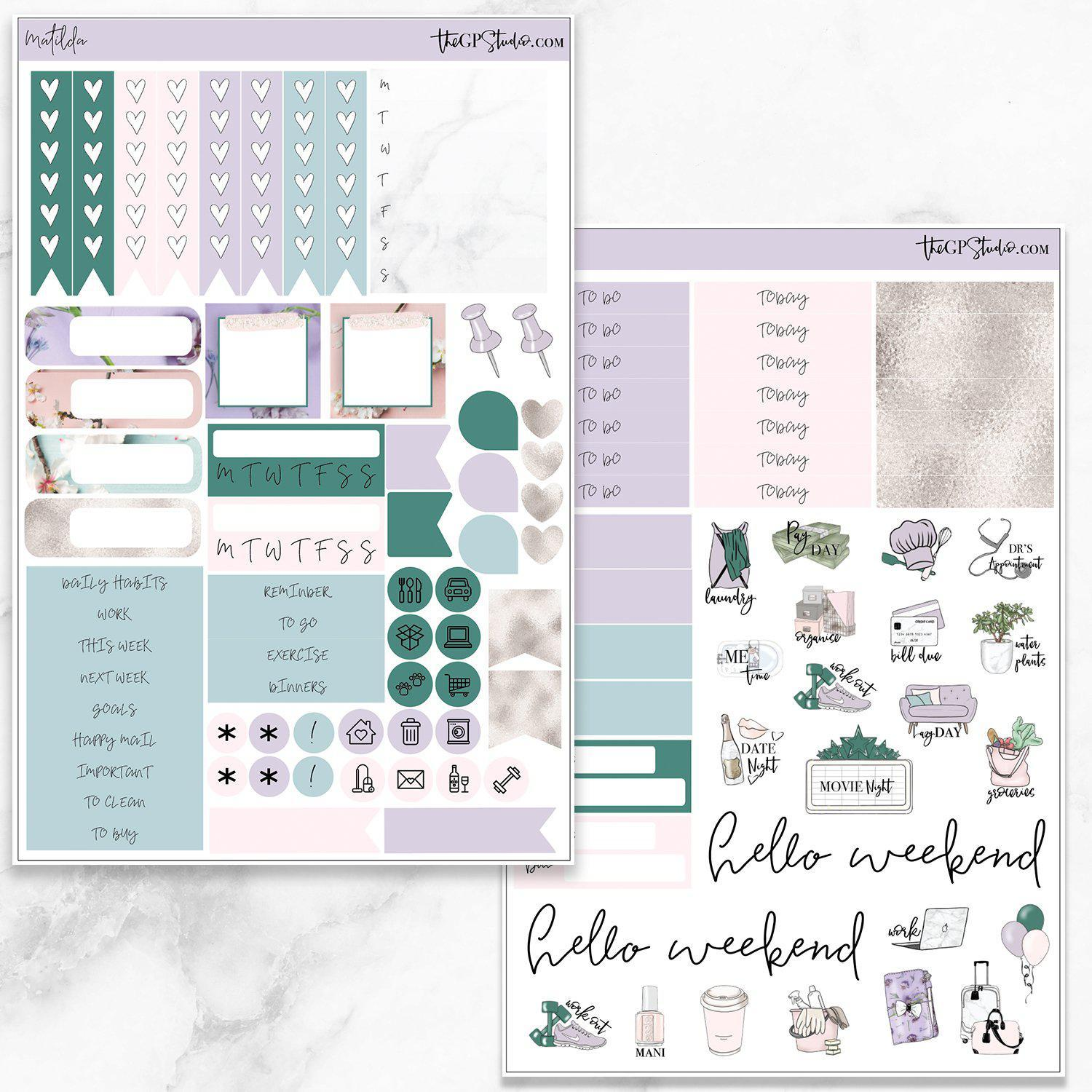 MATILDA Functional Planner Sticker Kit-The GP Studio