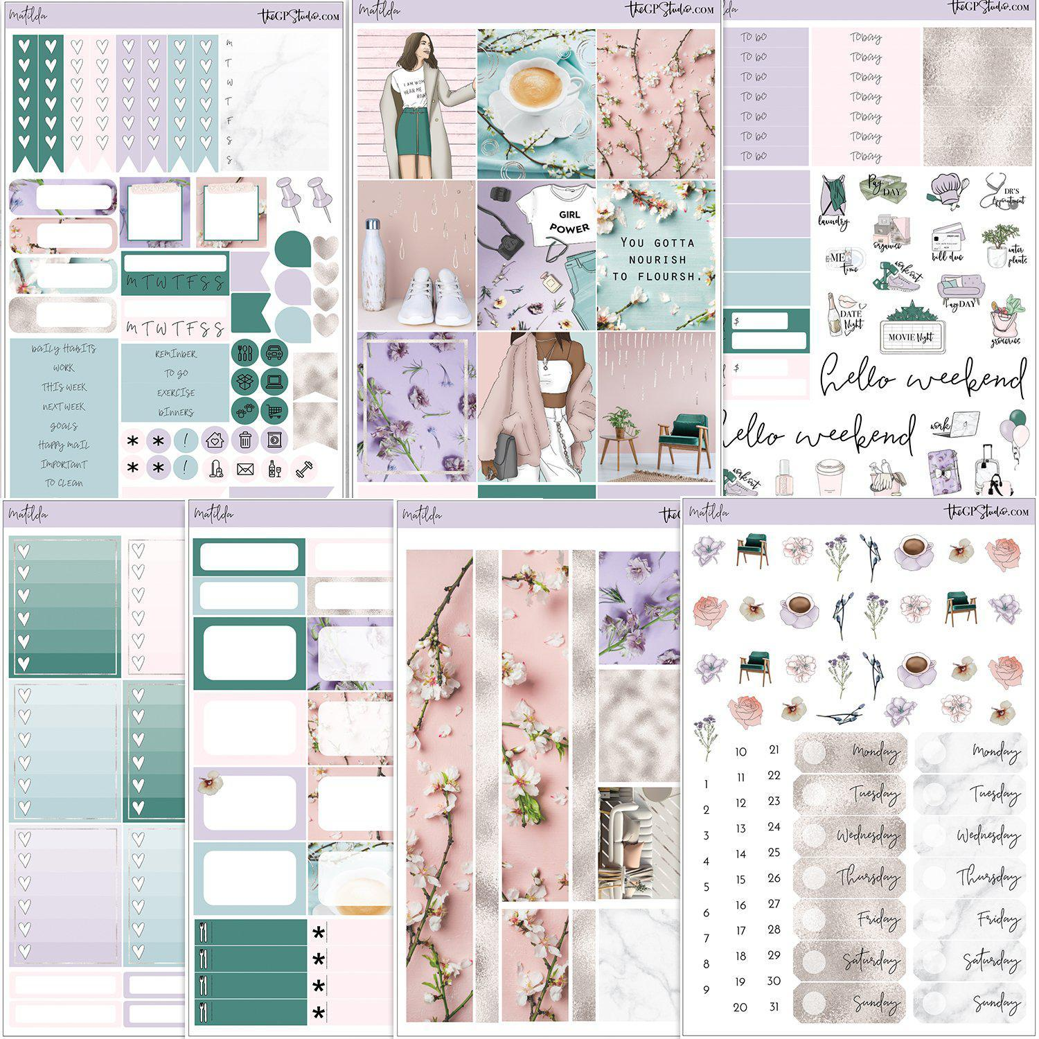 MATILDA Planner Sticker Kit-The GP Studio
