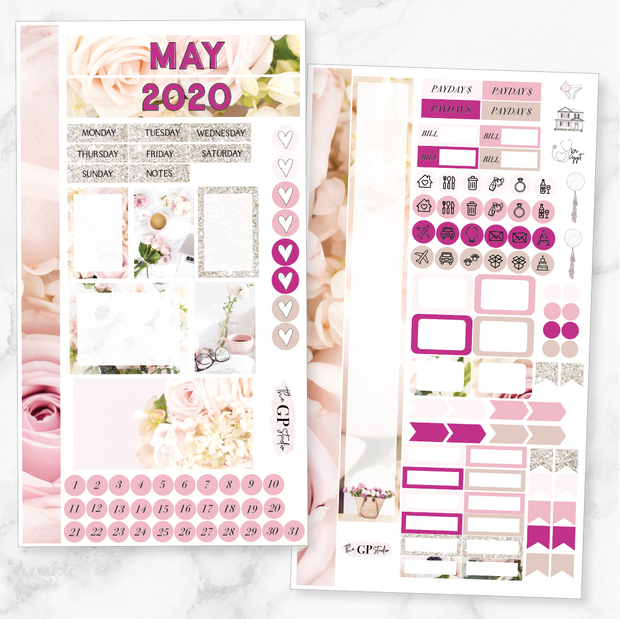 MAY 2020 MONTHLY VIEW Personal/TN Size Stickers-The GP Studio