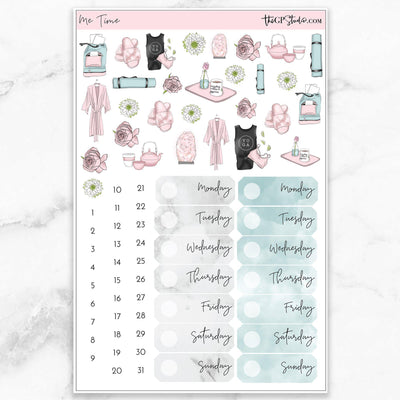 ME TIME Deco & Date Cover Stickers-The GP Studio