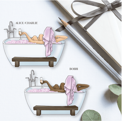 ME TIME GP Girl DIE CUT - Available in 3 skintones/hair colours-The GP Studio