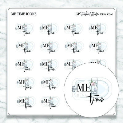 ME TIME Icon Planner Stickers-The GP Studio