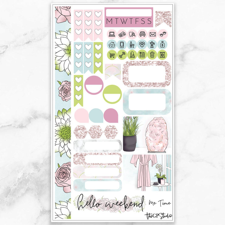 ME TIME Personal Size Planner Sticker Kit-The GP Studio