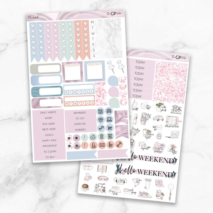 MERMAID Functional Planner Sticker Kit-The GP Studio