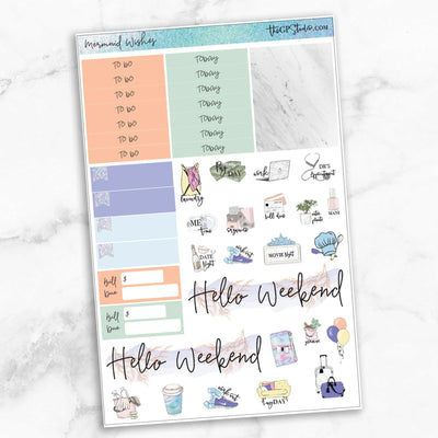 MERMAID WISHES Functional Planner Sticker Kit-The GP Studio
