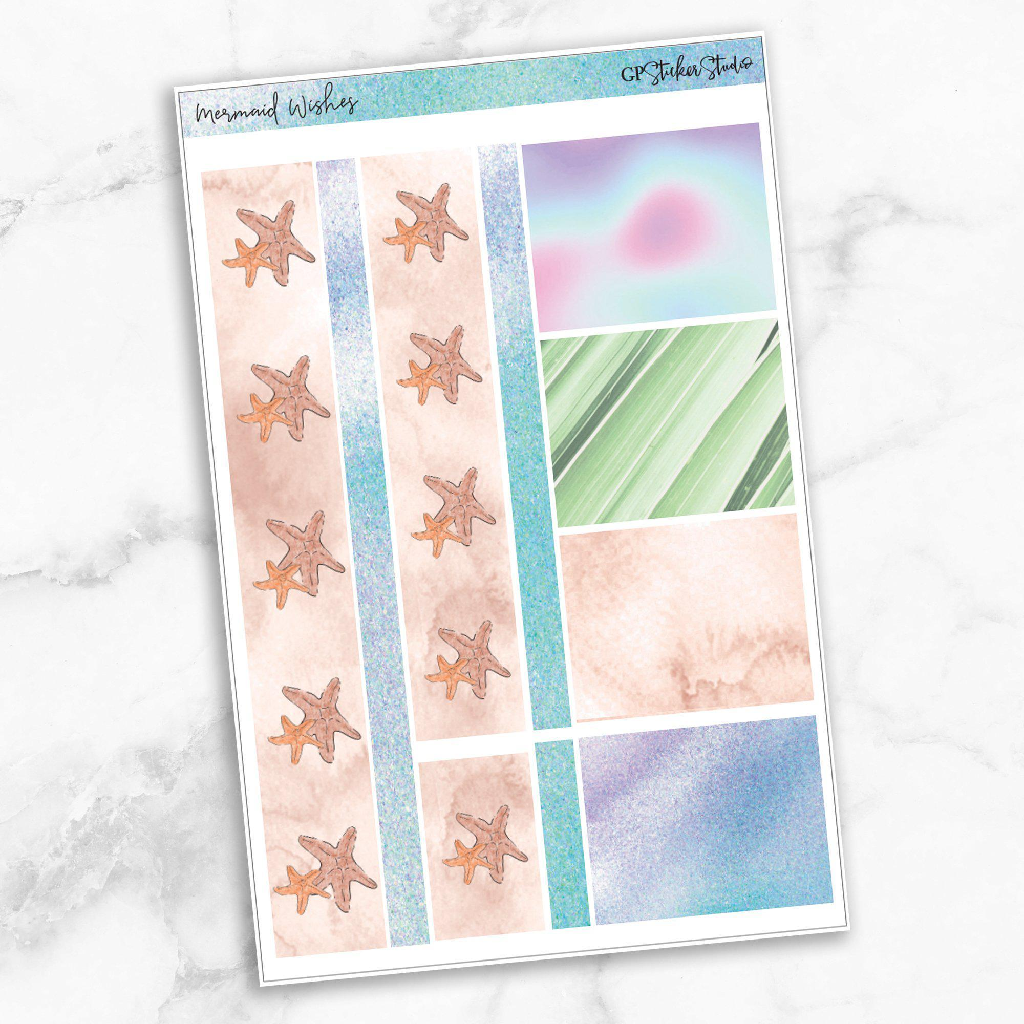 MERMAID WISHES Washi Sheet Stickers-The GP Studio