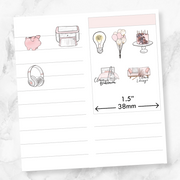 Mini BIRTHDAY CAKE Icons Stickers-The GP Studio