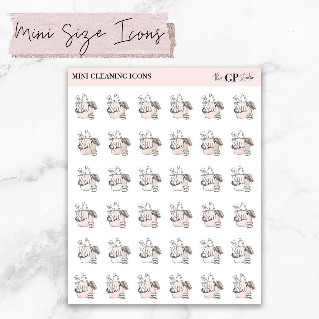 Mini CLEANING Icons Stickers-The GP Studio